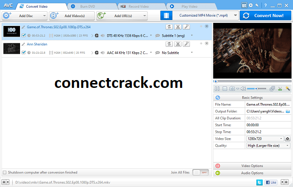 Any Video Converter Ultimate 7.1.0 Crack With Serial Key 2021 Free