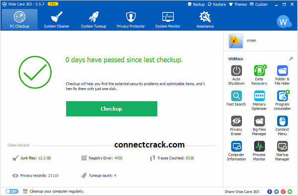 Wise Care 365 Pro 5.7.1 Crack With License Key 2021 Free